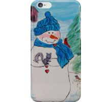 Snowman/Snowmen - Dimples the Snowman with friends iPhone Case/Skin