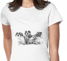 Shih Tzu Dog Image Womens Fitted T-Shirt
