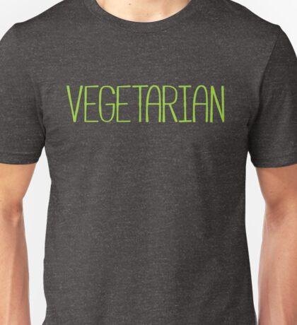 VEGETARIAN salad green text design Unisex T-Shirt