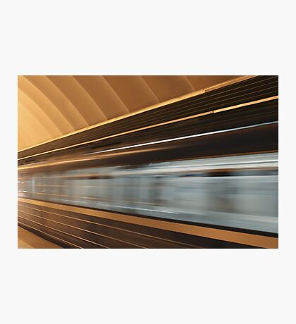 moving fast train Photographic Print