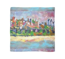 Del Mar California Abstract Painting Train Trestle Bridge Scarf