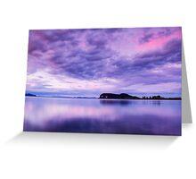 Sunset over Lake Taupo Greeting Card