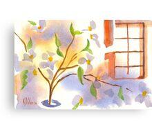 Missouri Dogwood in the Window Canvas Print