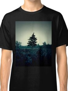 Atmospheric and dark image of the field and trees Classic T-Shirt