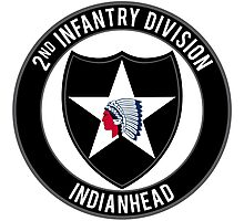 2nd Infantry Indianhead Photographic Print