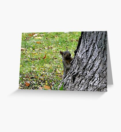 you can't get me! Hee hee! Greeting Card