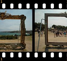 Framed - Two Views,Sculptures By The Sea 2011 by muz2142