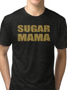 SUGAR MAMA gold glitter design Tri-blend T-Shirt
