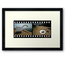 Taps & Drain @ Sculptures By The Sea  Framed Print