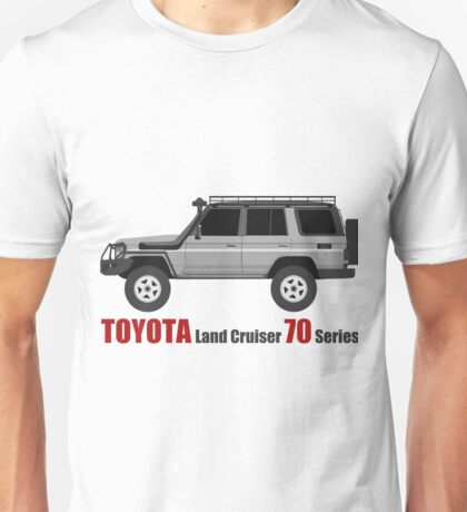 TOYOTA hzj77 side bullbar with SpareTire  (machito) Unisex T-Shirt