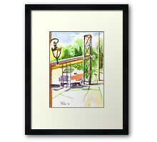 Gaslight at the Truck Stop Framed Print