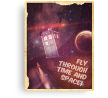 Retro Doctor Who Tourism Canvas Print