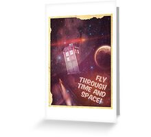 Retro Doctor Who Tourism Greeting Card