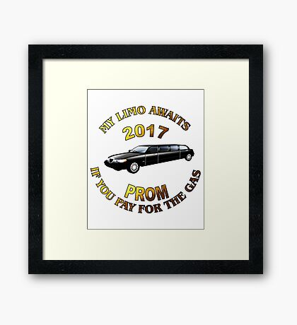 Class Of 2017 Prom My Limo Awaits Framed Print