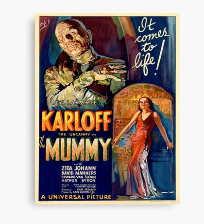 Vintage poster - The Mummy Canvas Print
