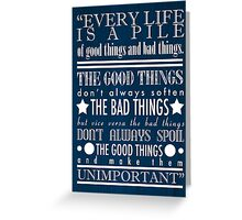 Doctor Who Quote Poster Greeting Card