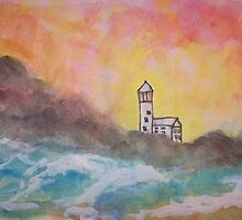 The Old Lighthouse by Kate Delancel Schultz