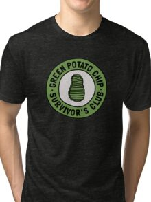 Green Potato Chip Survivor's Club Tri-blend T-Shirt
