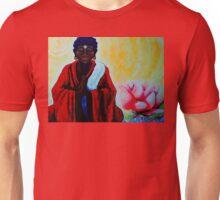 Red Buddha Lotus Flower Peace Zen Balance Namaste Soul Healing Love Karma Yoga Reiki Nirvana Unisex T-Shirt