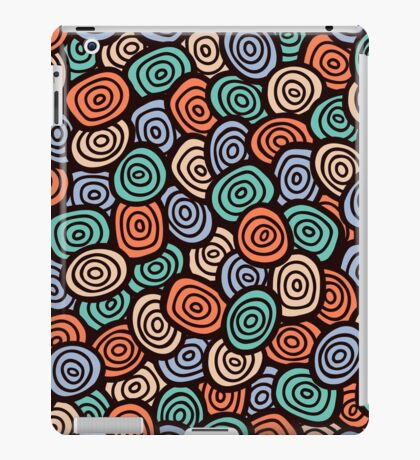 Abstract doodle seamless pattern. Simple retro  background. iPad Case/Skin