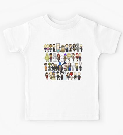 Doctor Who all together now Kids Tee