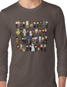 Doctor Who all together now Long Sleeve T-Shirt