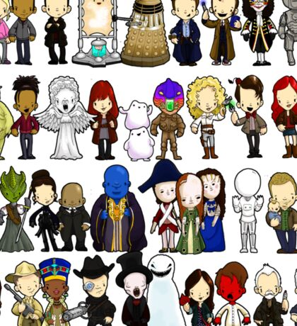 Doctor Who all together now Sticker