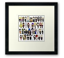 Doctor Who all together now Framed Print