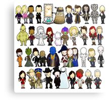 Doctor Who all together now Metal Print