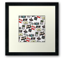 In with the old, nostalgic technology Framed Print