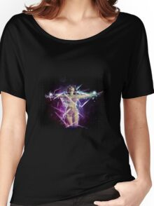 Bikini girl on abstract background 2 Women's Relaxed Fit T-Shirt
