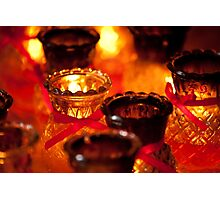 Candles in Penang Photographic Print