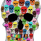 colorfull skull by artsmitten