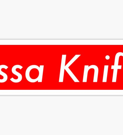 Issa Knife Sticker