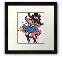 Cap'n Bluebeard Framed Print