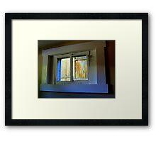 Through The Basement Window Framed Print