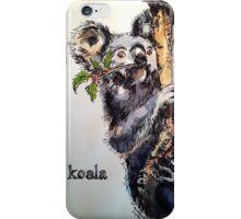 Christmas koala. Elizabeth Moore Golding 2014© iPhone Case/Skin