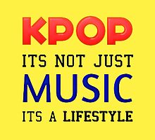 KPOP IS A LIFESTYLE - YELLOW by Kpop Seoul Shop