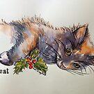Christmas cat. Elizabeth Moore Golding 2014© by Elizabeth Moore Golding