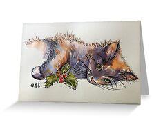 Christmas cat. Elizabeth Moore Golding© Greeting Card