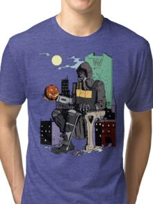 Scarecrow's Long Halloween - Batman: Arkham Knight Tri-blend T-Shirt