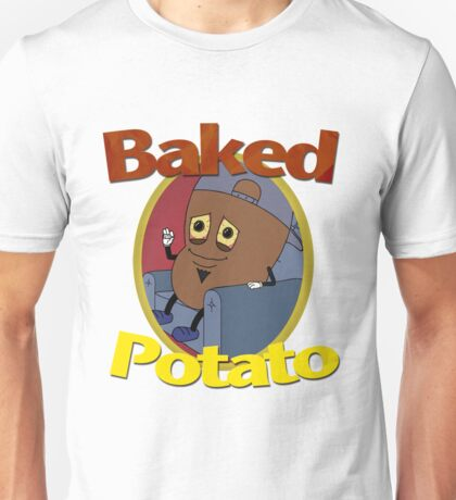 Baked Potato Cartoon Unisex T-Shirt