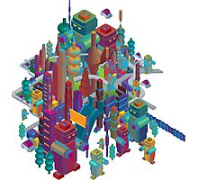 the color city Photographic Print