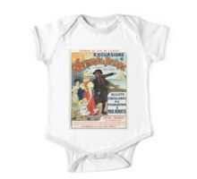 Vintage France Normandy Brittany Jersey  travel ad One Piece - Short Sleeve