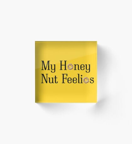 Mu Honey Nut Feelios Acrylic Block