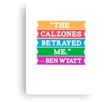 "Parks & Rec: ""Calzones"" Canvas Print"