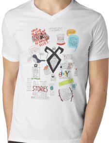 The Mortal Instruments collage Mens V-Neck T-Shirt