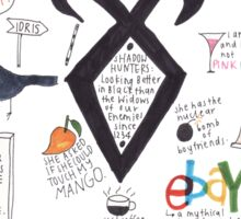 The Mortal Instruments collage Sticker