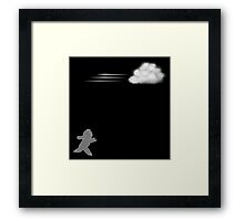 Chase that cloud, Girl! Framed Print