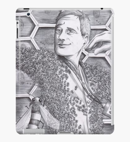 Jimmy Price - King of the bees BW iPad Case/Skin